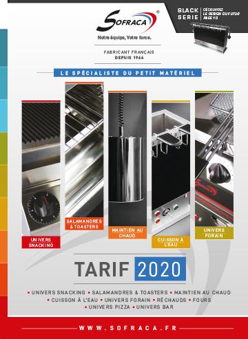SOFRACA - Tarif 2020